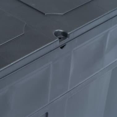 vidaXL Záhradný úložný box čierny 320 l[8/9]