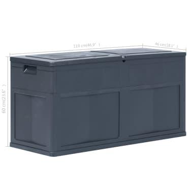 vidaXL Záhradný úložný box čierny 320 l[9/9]