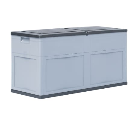 vidaXL Garden Storage Box 320 L Grey Black