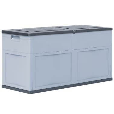 vidaXL Garden Storage Box 84.5 gal Gray Black[1/9]