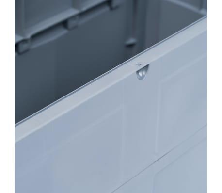 vidaXL Garden Storage Box 84.5 gal Gray Black[7/9]