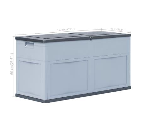 vidaXL Garden Storage Box 84.5 gal Gray Black[9/9]