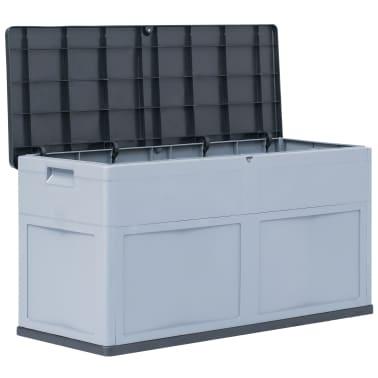 vidaXL Garden Storage Box 84.5 gal Gray Black[2/9]