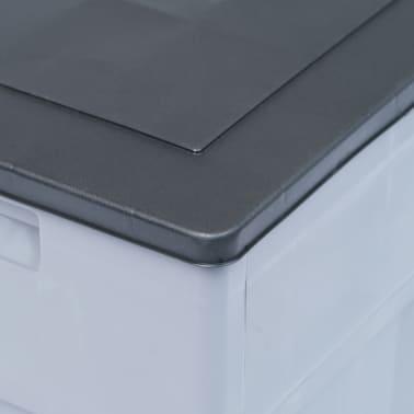 vidaXL Garden Storage Box 84.5 gal Gray Black[6/9]