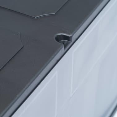 vidaXL Garden Storage Box 84.5 gal Gray Black[8/9]