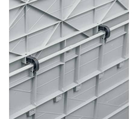 vidaXL Vrtna škatla za shranjevanje 420 L svetlo siva[6/10]
