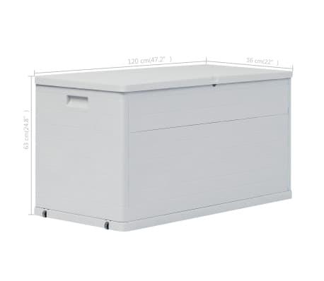 vidaXL Vrtna škatla za shranjevanje 420 L svetlo siva[10/10]