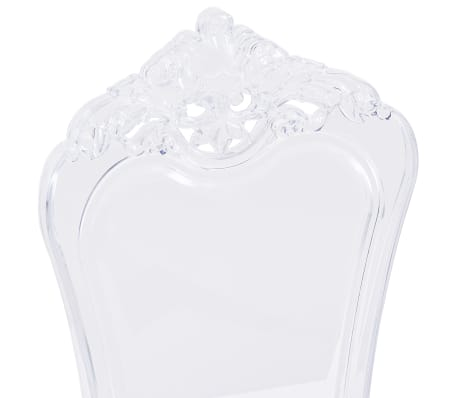 vidaXL Eetkamerstoelen 2 st polycarbonaat transparant[6/8]
