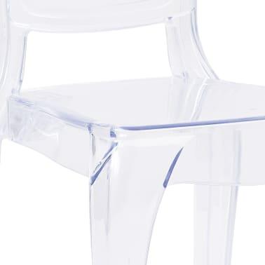 vidaXL Eetkamerstoelen 2 st polycarbonaat transparant[7/8]