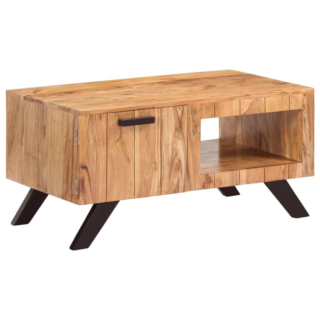 vidaXL Măsuță de cafea, 90 x 50 x 45 cm, lemn masiv de acacia poza vidaxl.ro