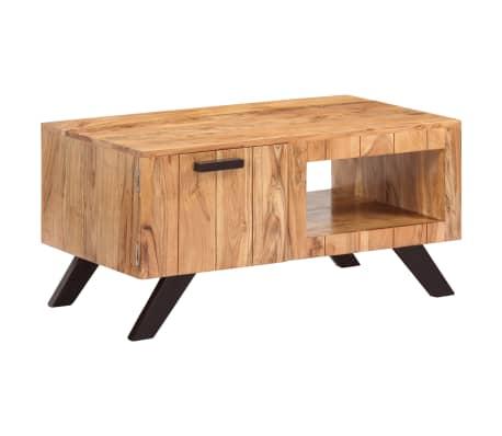 vidaXL Kavos staliukas, 90x50x45 cm, akacijos medienos masyvas[1/13]