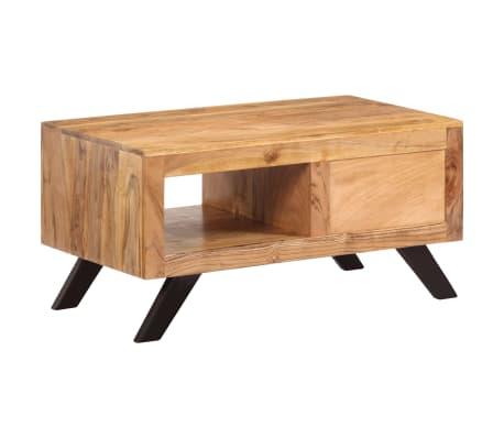 vidaXL Kavos staliukas, 90x50x45 cm, akacijos medienos masyvas[2/13]