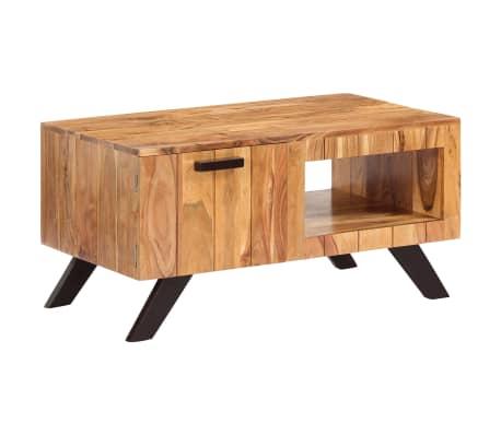 vidaXL Kavos staliukas, 90x50x45 cm, akacijos medienos masyvas[11/13]