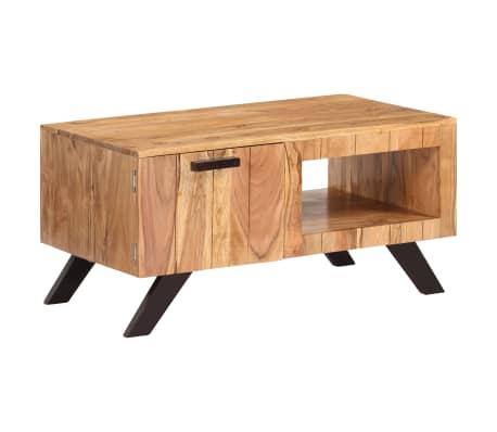 vidaXL Kavos staliukas, 90x50x45 cm, akacijos medienos masyvas[9/13]