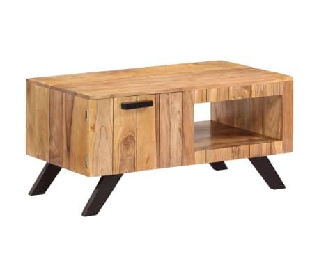 vidaXL Kavos staliukas, 90x50x45 cm, akacijos medienos masyvas[10/13]