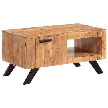 vidaXL Kavos staliukas, 90x50x45 cm, akacijos medienos masyvas[12/13]