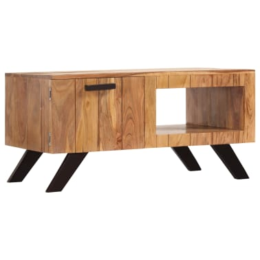 vidaXL Kavos staliukas, 90x50x45 cm, akacijos medienos masyvas[13/13]