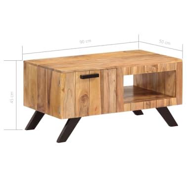 vidaXL Kavos staliukas, 90x50x45 cm, akacijos medienos masyvas[8/13]