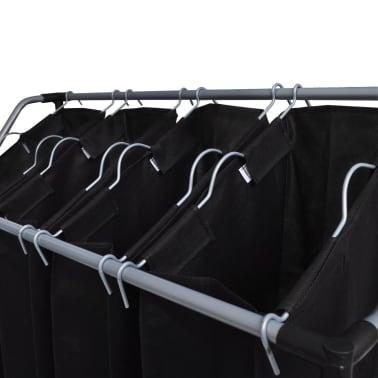 vidaXL Separador de colada con bolsas 2 unidades negro y gris[2/3]