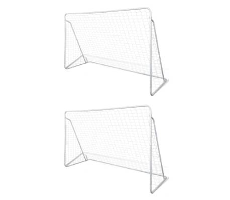 vidaXL jalgpalliväravad, teras, 2 tk, 240 x 90 x 150 cm
