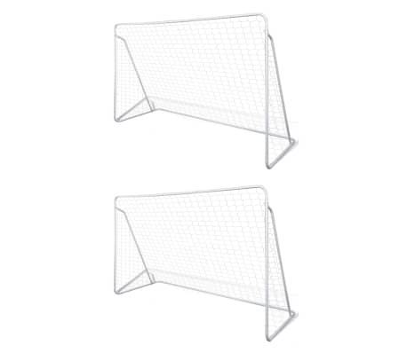 vidaXL Fotbollsmål nät 2 st 240x90x150 cm