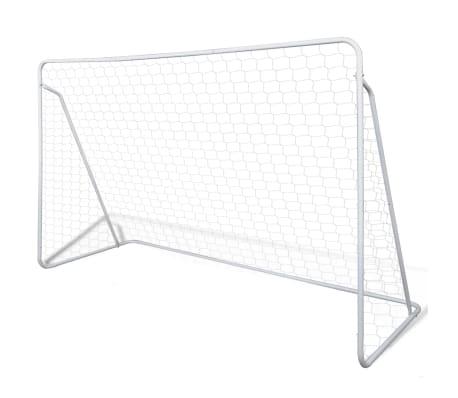 vidaXL Porți de fotbal cu plasă, 2 buc, 240 x 90 x 150 cm, oțel[2/5]