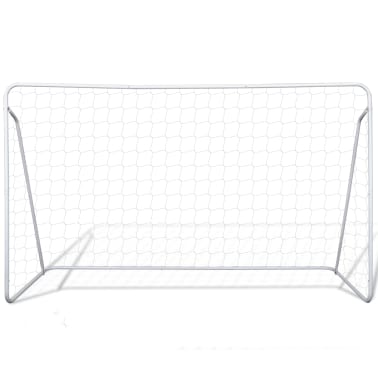 vidaXL Porți de fotbal cu plasă, 2 buc, 240 x 90 x 150 cm, oțel[3/5]