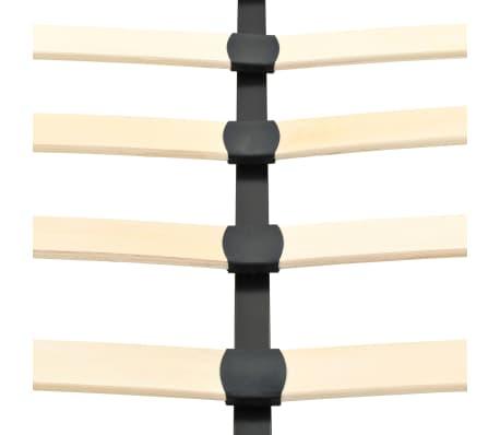 vidaXL Lovos rėmas su 2 nakt. stal., juod. sp., 140x200 cm, metalas[8/18]