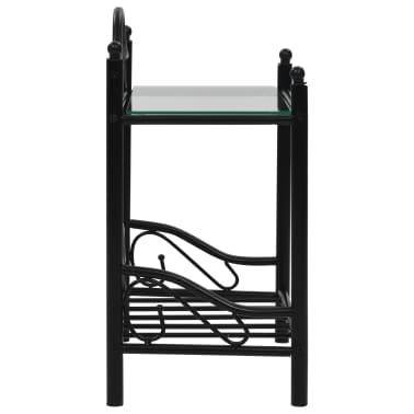 vidaXL Lovos rėmas su 2 nakt. stal., juod. sp., 140x200 cm, metalas[12/18]