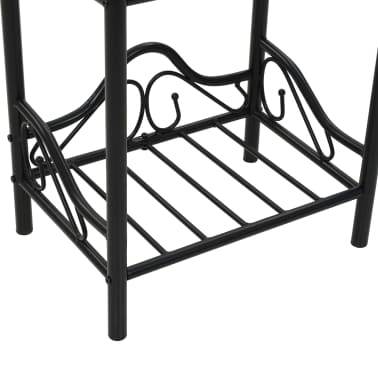 vidaXL Lovos rėmas su 2 nakt. stal., juod. sp., 140x200 cm, metalas[16/18]