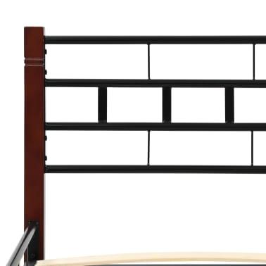 vidaXL Lovos rėmas su 2 nakt. stal., juod. sp., 140x200 cm, metalas[7/18]