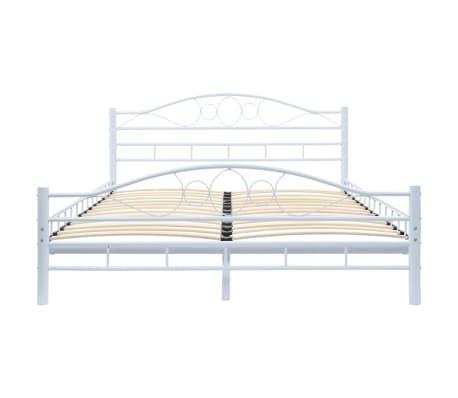 vidaXL Πλαίσιο Κρεβατιού με 2 Κομοδίνα 140 x 200 εκ. Λευκό Μεταλλικό[4/17]