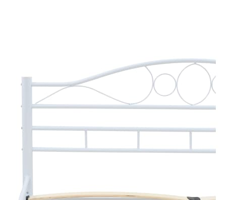 vidaXL Πλαίσιο Κρεβατιού με 2 Κομοδίνα 140 x 200 εκ. Λευκό Μεταλλικό[7/17]