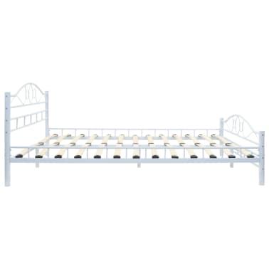 vidaXL Πλαίσιο Κρεβατιού με 2 Κομοδίνα 140 x 200 εκ. Λευκό Μεταλλικό[6/17]