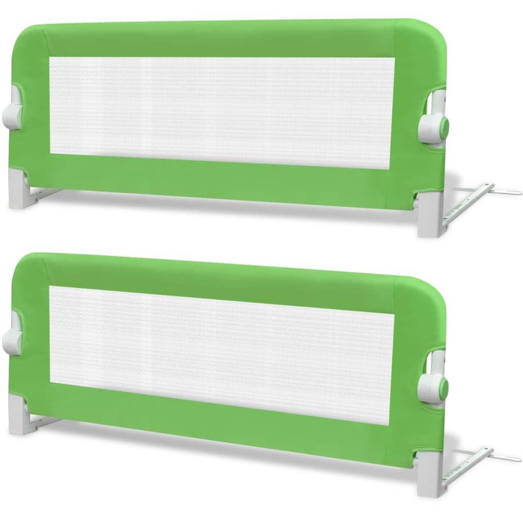 vidaXL Μπάρα Κρεβατιού Προστατευτική 2 τεμ. Πράσινη 102x42 εκ.