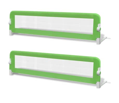 vidaXL Toddler Safety Bed Rail 2 pcs Green 150x42 cm