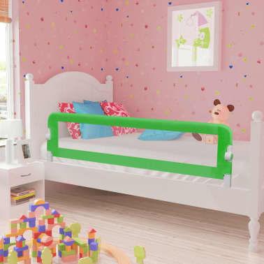 vidaXL Apsauginiai turėklai kūdikio lovai, 2vnt., žal. sp., 150x42 cm[1/7]