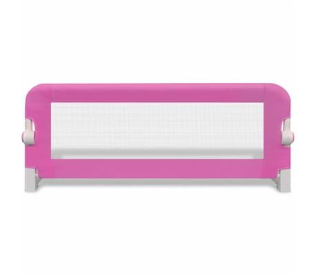 vidaXL Barrière de lit de sécurité pour tout-petits 2pcs Rose 102x42cm[4/7]
