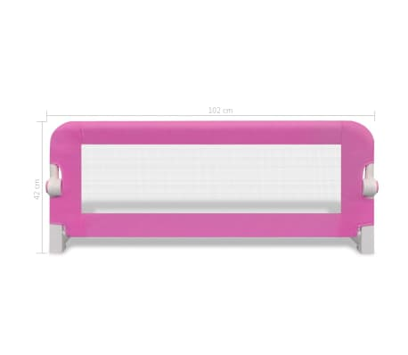 vidaXL Barrière de lit de sécurité pour tout-petits 2pcs Rose 102x42cm[7/7]