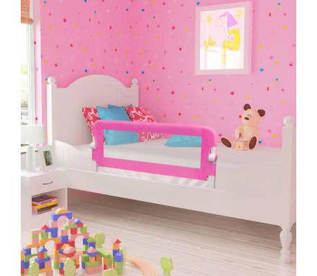 vidaXL Barrière de lit de sécurité pour tout-petits 2pcs Rose 102x42cm[1/7]