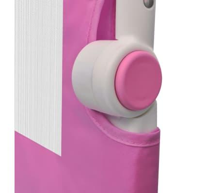 vidaXL Barrière de lit de sécurité pour tout-petits 2pcs Rose 150x42cm[6/7]
