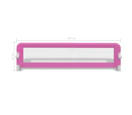 vidaXL Barrière de lit de sécurité pour tout-petits 2pcs Rose 150x42cm[7/7]