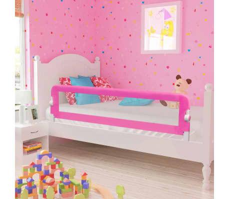 vidaXL Barrière de lit de sécurité pour tout-petits 2pcs Rose 150x42cm[1/7]