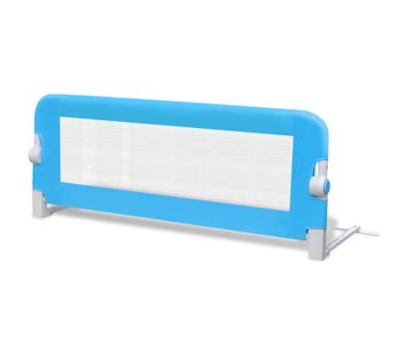 vidaXL Barrière de lit de sécurité pour tout-petits 2pcs Bleu 102x42cm[3/7]