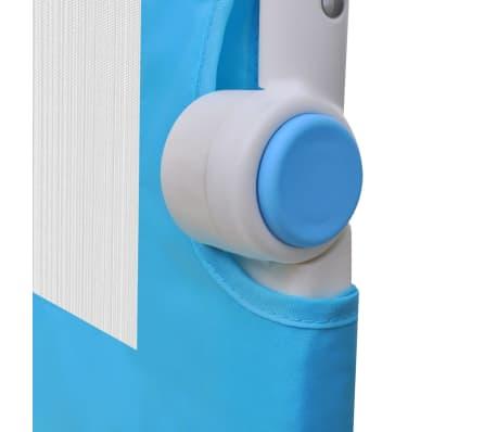 vidaXL Barrière de lit de sécurité pour tout-petits 2pcs Bleu 102x42cm[6/7]