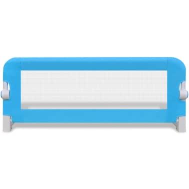 vidaXL Barrière de lit de sécurité pour tout-petits 2pcs Bleu 102x42cm[4/7]
