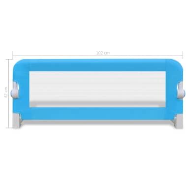 vidaXL Barrière de lit de sécurité pour tout-petits 2pcs Bleu 102x42cm[7/7]