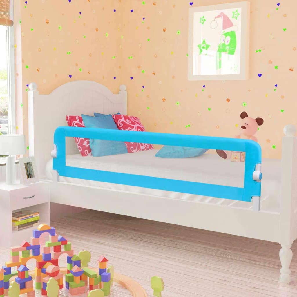 Dětské zábrany k postýlce 2 ks modré 150 x 42 cm