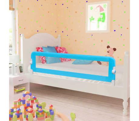 vidaXL Apsauginiai turėklai kūdikio lovai, 2vnt., mėl. sp., 150x42cm[1/7]