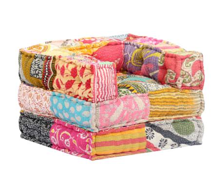 vidaXL Modulární pouf patchwork textil
